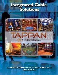 integrated cable solutions 2013 - tappan wire & cable