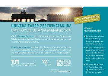 Employer Brand Manager/in - Deutsche Employer Branding Akademie
