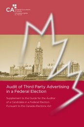 Audit of Third Party Advertising in a Federal Election - Canadian ...