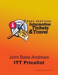 Joint Base Andrews ITT Pricelist