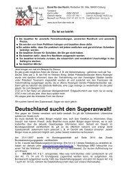 Deutschland sucht den Superanwalt! - Freistaat Danzig