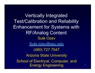 Vertically Integrated Test/Calibration and Reliability Enhancement ...