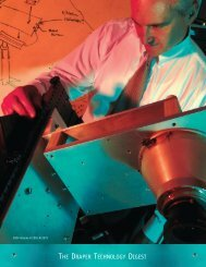 THE DRAPER TECHNOLOGY DIGEST - Draper Laboratory