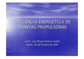 EFICIENCIA ENERGÉTICA DE PLANTAS PROPULSORAS