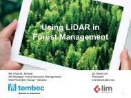Using Lidar in Forest Management - VCO