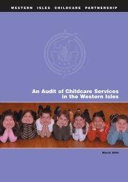 Childcare Audit - Comhairle nan Eilean Siar