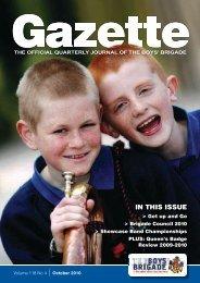 October 2010 - The Boys' Brigade