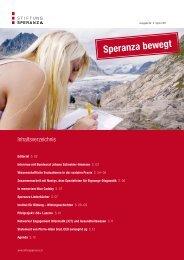 Ausgabe Nr. 5, Speranza bewegt - April 2011 - Stiftung Speranza
