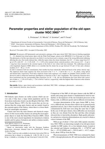 Parameter properties and stellar population of the old open cluster ...
