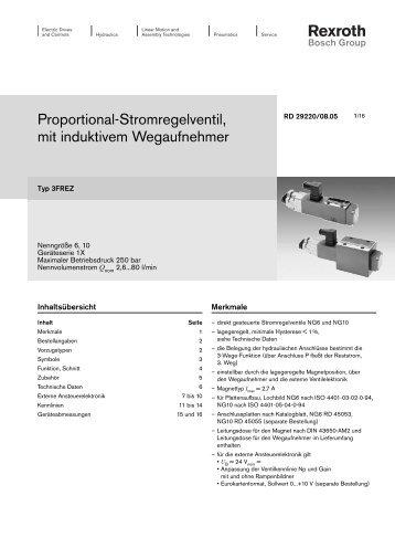 Proportional-Stromregelventil, mit induktivem ... - Bosch Rexroth