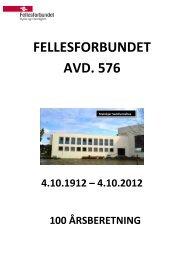 100 årsberetning.pdf - Fellesforbundet