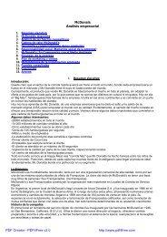 1. Resumen ejecutivo 2. McDonalds Argentina 3 ... - Biblioteca
