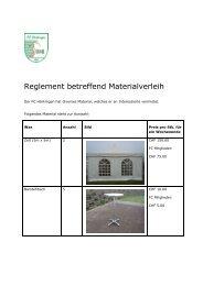Reglement betreffend Materialverleih - Willkommen beim FC ...