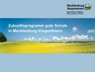 Zukunftsprogramm gute Schule in Mecklenburg-Vorpommern