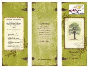 Memorial Tree Program - City of El Paso