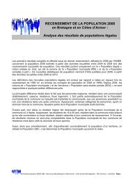RECENSEMENT DE LA POPULATION 2008 en Bretagne ... - CAD22