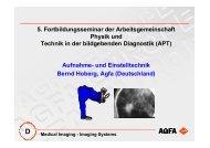 Aufnahme - AG Physik und Technik in der bildgebenden Diagnostik