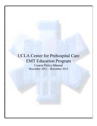 EMT Policies (pdf) - UCLA Center for Prehospital Care