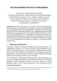 rfid im bauwesen und facility management - UCC, IT in AEC ...