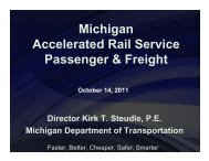 Michigan Accelerated Rail Service Passenger & Freight
