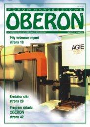 numer 01 (05) 2001 - Forum Narzędziowe Oberon