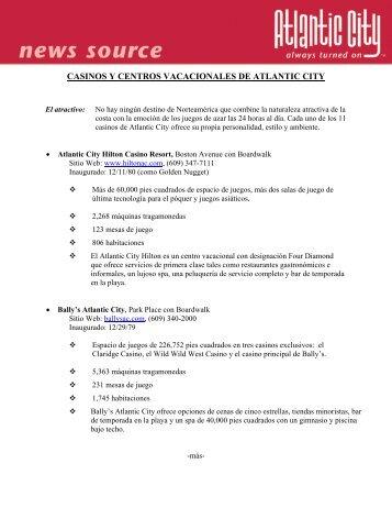 CASINOS Y CENTROS VACACIONALES DE ATLANTIC CITY
