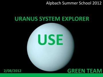 orbiter - Summer School Alpbach 2013