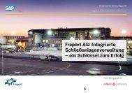 Integrierte Schließanlagenverwaltung – ein Schlüssel ... - SAP.com