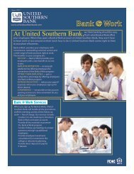 Bank @ Work Services - United Southern Bank