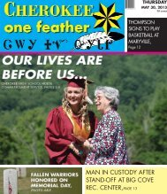 May 30, 2013 - The Cherokee One Feather
