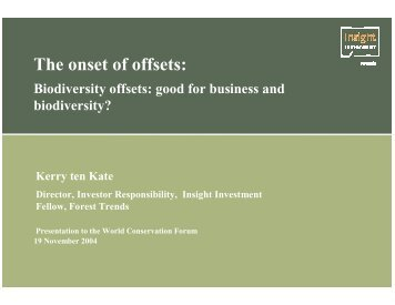 What is a biodiversity offset? - Ecosystem Marketplace