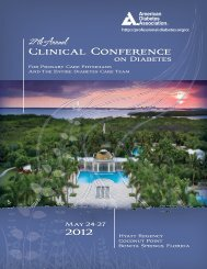 Clinical Conference - American Diabetes Association