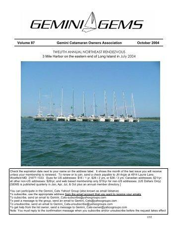 Issue #87, Oct 2004 - Gemini Gems