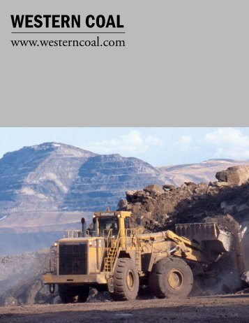 WESTERN COAL - The International Resource Journal
