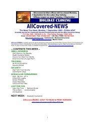 1 September 2003 - Allcovered.net