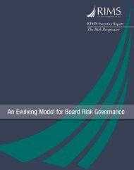 An Evolving Model for Board Risk Governance - RIMS