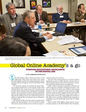 Global Online Academy's a go - Lakeside School