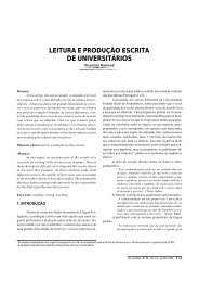 Leitura e produção escrita de universitários - Revista de Letras