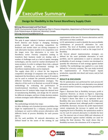 Design for Flexibility in the Forest Biorefinery Supply Chain - VCO