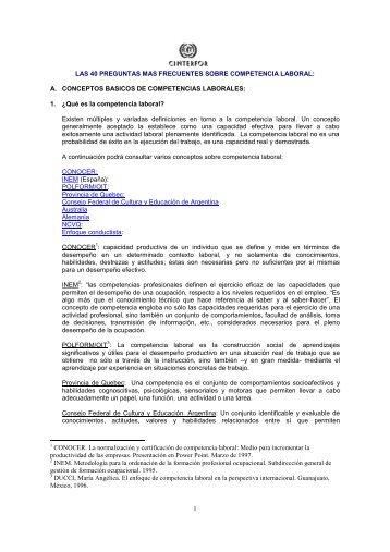 A. CONCEPTOS BASICOS DE COMPETENCIAS LABORALES - OEI