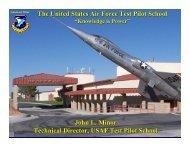 The United States Air Force Test Pilot School John L. Minor ...