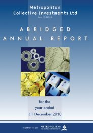 Annual Abridge Report as at December 2010 - Clarus Asset Managers