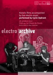 Le programme de la soirée (pdf) - Memoriav