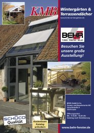 Wintergärten & Terrassendächer Qualität - Behr GmbH