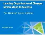 Leading Organizational Change: Seven Steps to Seven Steps to ...