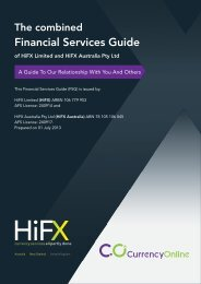 Financial Services Guide - Currency Online