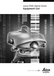 Leica DNA digital levels Equipment List - Leica Geosystems