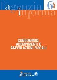 Condominio: adempimenti e agevolazioni fiscali - Agenzia delle ...