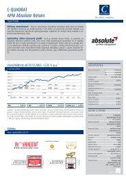 C-QUADRAT APM Absolute Return Popis fondu