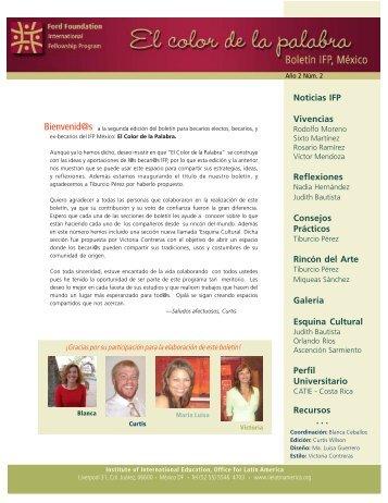 No. 2 - Programa Internacional de Becas de Posgrado - Ciesas